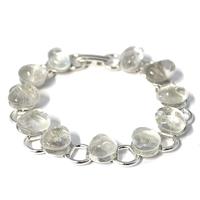 Bracelet chaîne cristal de roche 19cm