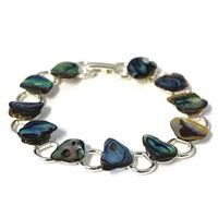 Bracelet chaîne nacre d'Abalone 19cm