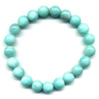 Bracelet en Amazonite boules 10mm