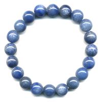 Bracelet Quartz bleu boule 10 mm