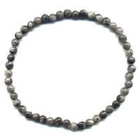 Bracelet en Larvikite boules 4mm