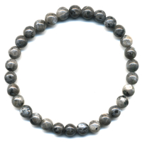 Bracelet en Larvikite boules 6mm