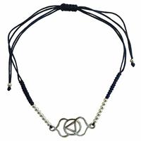 Bracelet Chakra Ajna cordon ajustable en coton