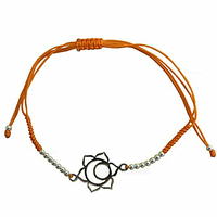 Bracelet Chakra Svadhistana cordon ajustable en coton