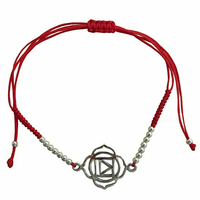 Bracelet Chakra Muladhara cordon ajustable en coton