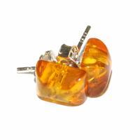 Boucles d'oreilles en forme de rectangle en ambre