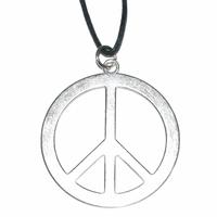 Pendentif Peace and love en métal 40mm