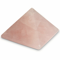 pyramide en quartz rose 30 x 30 mm