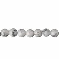 Perle en Howlite boule de 4mm - Lot de 10 pièces