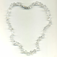 Collier Cristal de Roche 45 cm baroque