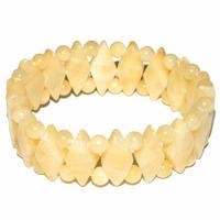 Bracelet losange en Calcite jaune