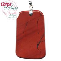 Jaspe rouge pierre plate en pendentif