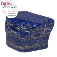 Pièce unique Lapis lazuli polie en forme libre à poser de 438g
