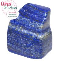 Pièce unique Lapis lazuli polie en forme libre à poser de 352g