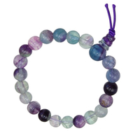 Mala tibétain 21 graines Power Bracelet Fluorine boule 8 mm