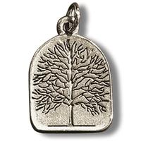 Collier amulette Arbre de vie en étain