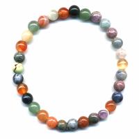Bracelet multicolore en pierres naturelles boules 6mm
