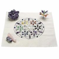 Tissu imprimé fleur de vie pour grille de cristal