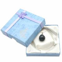 Pendentif argent Obsidienne neige avec chainette argent