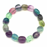Bracelet fluorite/fluorine en pierres roulées