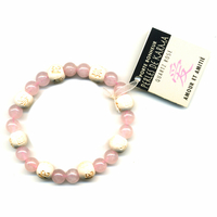 Bracelet perles de karma en Quartz rose