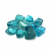 Apatite Néon de Madagascar de 08 à 10mm - Lot de 10pcs