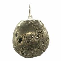 Pendentif en pyrite naturelle polie en provenance du Pérou XL
