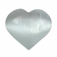Sélénite en forme de coeur de 80mm