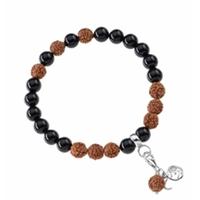 Bracelet Mala Tourmaline noire (Protection)
