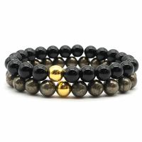 Bracelets de protection Onyx et Pyrite