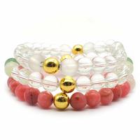 Set Bracelets Amour et Bonheur Lithothérapie