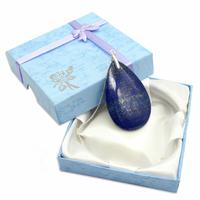 Pièce Unique - Pendentif lapis lazuli bélière argent avec chainette argent - Modèle 1
