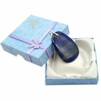 Pièce Unique - Pendentif lapis lazuli bélière argent avec chainette argent - Modèle 4