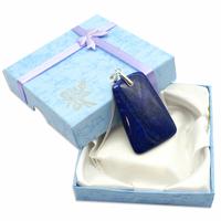 Pièce Unique - Pendentif lapis lazuli bélière argent avec chainette argent - Modèle 5