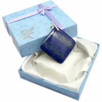 Pièce Unique - Pendentif lapis lazuli bélière argent avec chainette argent - Modèle 6