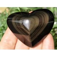 Obsidienne oeil céleste en forme de coeur de 60mm
