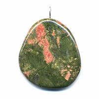 Unakite pierre plate en Pendentif