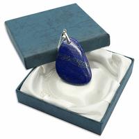 Pièce Unique - Pendentif lapis lazuli bélière argent avec chainette argent - Modèle 2