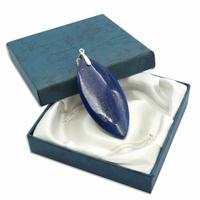 Pièce Unique - Pendentif lapis lazuli bélière argent avec chainette argent - Modèle 3