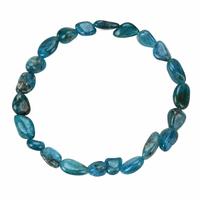 Bracelet pierres roulées apatite bleue