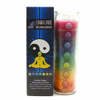 "Bougie 7 chakras ""Energie positive"""
