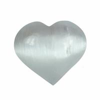 Sélénite en forme de coeur de 60mm