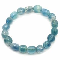 Bracelet pierres roulées Fluorine/Fluorite bleue
