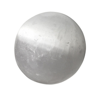 Boule de massage en Sélénite de 36 à 40mm avec support hématite
