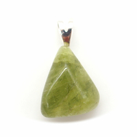 Pendentif tourmaline verte Extra avec Bélière argent