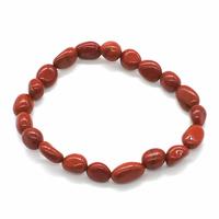 Bracelet pierres roulées Jaspe rouge