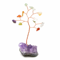 Arbre du Bonheur en Quartz multicolore PM - 12 pierres