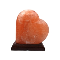 Lampe en sel de l'Himalaya en forme de Coeur - 18cm