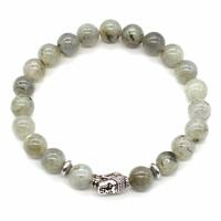Bracelet Labradorite boules 8mm et Perle Bouddha