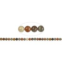 Fil de perles en pierre de lune 8mm - Grade A